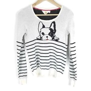 Anthropologie Monogram Top Dog Pullover 1254